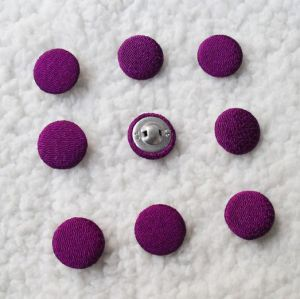 Nylon Taffta Fabric Covered Button with 9mm, Free Samples pictures & photos