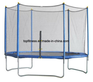 12FT Large Cheap Jump Rebounder Trampoline with Carbon Fiber Rod for Big Sale pictures & photos