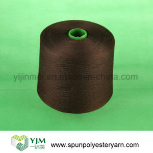 Spun Polyester Thread Yarn Dyed pictures & photos