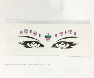 Eco Friendly Tattoo Stickers Rhinestone Face Eye Decorative Eye Crystal Stickers (S056) pictures & photos