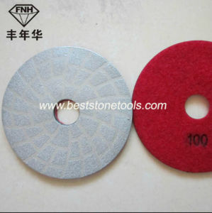 Diamond Brazed Polishing Pad for Concrete Marble Granite