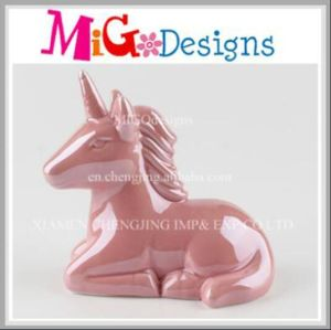 Ceramic Adorable Unicorn Hand Painted Piggy Bank pictures & photos
