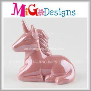 Ceramic Adorable Unicorn Hand Painted Piggy Bank pictures & photos