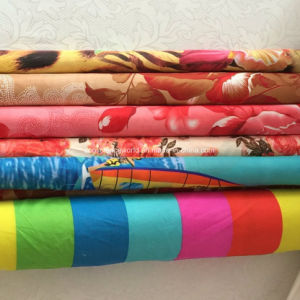 100%Polyester 60GSM144f Pigment Printed Fabric for Comforter Set pictures & photos