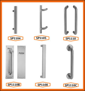 China Stainless Steel Pull Handle with Plate pictures & photos