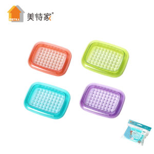 6070 Metka Household Plastic Square Soap Dispenser Soap Dish for Bathroom pictures & photos