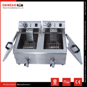 Twin 13L Tank Professional Electric Potato Chips Fryer Machine on Sale pictures & photos