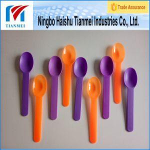 Disposable Ice Cream Plastic Desert Spoon pictures & photos
