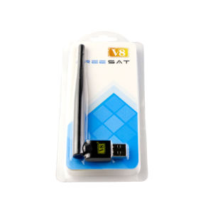 V8 USB WiFi Adapter with Antenna Work for Free to Air Digital Satellite Receiver Super Golden V8s V8se pictures & photos