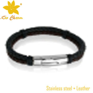 Stlb-108 Wholesale Leather Engravable Bracelets for Couples Leather pictures & photos