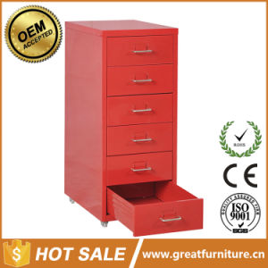 Assembled Thin Frame Mobile Filing Cabinet with Combination Lock pictures & photos