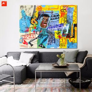 New Graffiti Wall Picture Cartoon Black Man Oil Painting pictures & photos