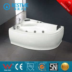 Sanitary Ware Bathroom Corner-Located Acrylic Massage Jacuzzi Bathtub (BT-A1028) pictures & photos