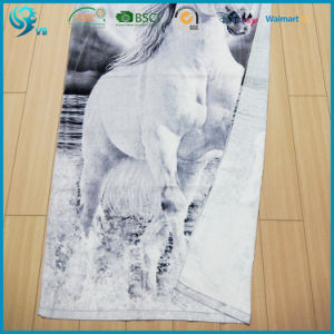 100% Cotton Velour Reactive Pdye Custom Design Animal Printed Towel pictures & photos