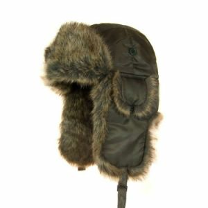 Faux Fur Polyester Trapper Hat pictures & photos