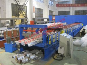 Steel Sheet Lotos Deck Floor Roll Forming Machine with Ce Certification pictures & photos