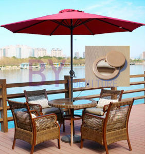Outdoor Courtyard Balcony Leisure Table (Round Table) Chairs Combination of Three Sets pictures & photos