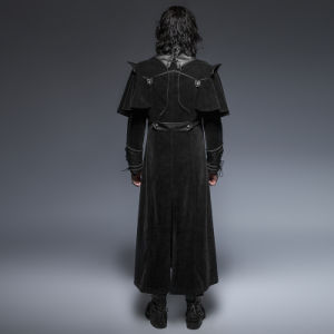 Y-636 Black Spring Gothic Cool Long Cloak Coat pictures & photos
