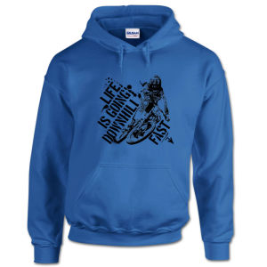 Adult Elastic Cuffs Polar Fleece Blue Hoodie (A655) pictures & photos