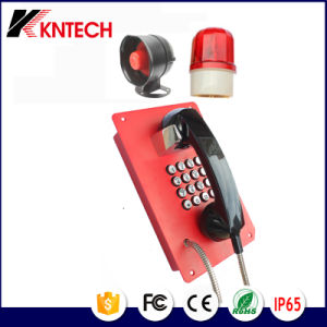Stainless Steel Metal Button Telephone Knzd-07A Emergency Phone pictures & photos