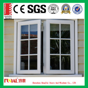 High Quality Double Glazing Aluminum Window with Grill Design