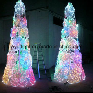 Customized Outdoor Christmas LED Tree with Flower Decoration pictures & photos