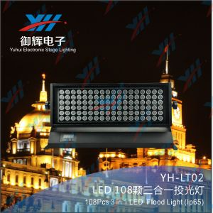 Professional Stage Lighting 108*3W RGBW Waterproof IP65 LED Flood Light Outdoor LED Wall Washer pictures & photos