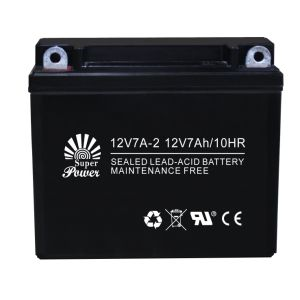 Lead Acid Motorcycle Battery 12V 7ah with CE UL Certificate Called 12V7A-2 pictures & photos