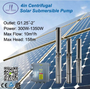 300W-1500W 4inch Centrifugal Solar DC Submersible Pump pictures & photos