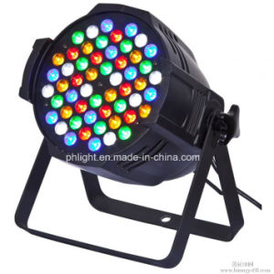 Low Price 54X3w RGBW LED PAR Stage Light with DMX512 for Indoor Use Event, Disco Stage Lighting pictures & photos