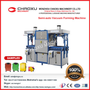 Semi-Auto Type Vacuum Forming Machine for Forming Luggage pictures & photos