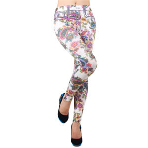 Women 95 Polyester 5 Spandex Custom Print Leggings pictures & photos
