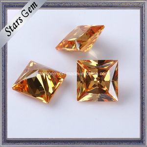 High Quality Princess Cut Synthetic Cubic Zirconia Manufacturer pictures & photos