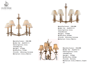 Traditional Lighting with Fabric Shade (SL2015-8) pictures & photos
