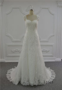 latest fashion Luxury Wedding Dress 2017 A-Line Bridal Wedding Dress Ivory pictures & photos