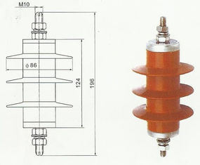 5ka Zinc Oxide Distribution Surge Arrester Grapless Polymeric Moa pictures & photos