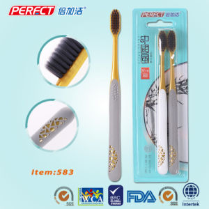 Perfect Charcoal Gold Adult Toothbrush pictures & photos