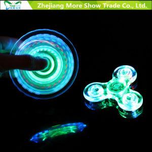 Fast Bearings Transparent LED Light Finger Fidget Hand Spinner Toys pictures & photos