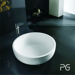 Round Shape Long Service Life Freestanding Bathtub Outside pictures & photos