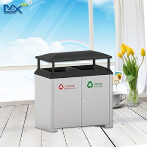 Outdoor Stainlesss Steel Recycling Waste Bin pictures & photos