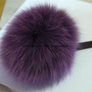 Nice Dark Purple Fox Fur Pompom pictures & photos