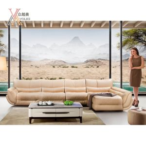 Modern Fashion Leather Sofa with Corner (1053A)