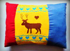 Elk Knitted Fabric and Cotton Cloth Pet Mat, Dog Cat Cushion, Pillow pictures & photos