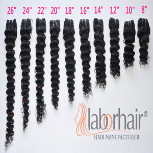 Labor Hair Products Brazilian Hair Weave Bundles Deep Curly Virgin Hair 105g, Top Human Hair Extension Bundles pictures & photos