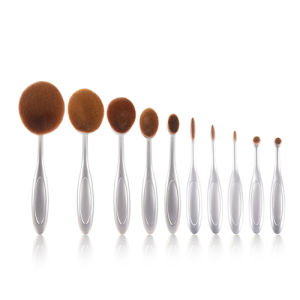 10PC/Set Eyebrow Foundation Eyeliner Lip Oval Foundation Makeup Brush Set pictures & photos