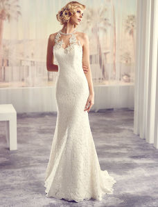 Real Sample off-Shoulder Lace Bridal Gown Wedding Dresses pictures & photos