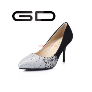 Half Color Pumps Shoes PU Material Rubber Outsole pictures & photos