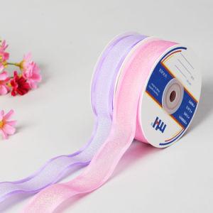 Metallic Sheer Ribbon with Satin Edge pictures & photos