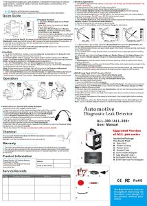 All-300 Smoke Automotive Leak Locator pictures & photos