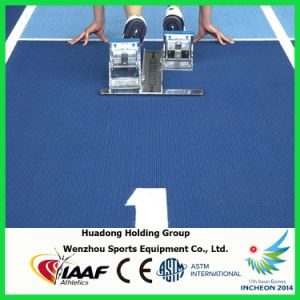Eco-Friendly 13mm Prefabricated Rubber Flooring Rolls, Rubber Running Track, Race Track pictures & photos